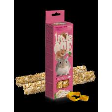 LITTLE ONE / LITTLE ONE 2х55 г палочки для хомяков, крыс, мышей и песчанок с воздушным рисом и орехами 1х8
