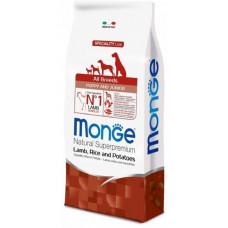 Monge (Монже) Dog Speciality Puppy&Junior корм для щенков всех пород ягненок с рисом и картофелем  2,5 кг