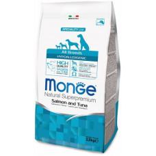 Monge (Монже) Dog Speciality Hypoallergenic корм для собак гипоаллергенный лосось с тунцом  2,5 кг