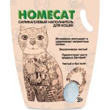 Наполнитель для кошачьих туалетов HomeCat Стандарт, силикагелевый, без запаха, 3.8 л, 1.8 кг