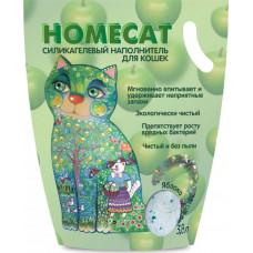Наполнитель для кошачьих туалетов HomeCat Яблоко, силикагелевый, ароматизированный, 3,8 л