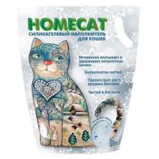 Наполнитель для кошачьих туалетов HomeCat Морозная свежесть, силикагелевый, с ароматом морозной свежести, 3,8 л, 1.8 кг