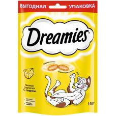 Лакомство для кошек Dreamies, подушечки с сыром, 140 г