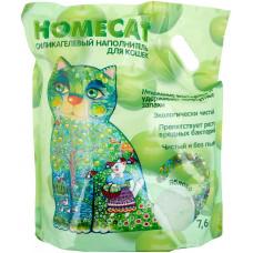 Впитывающий наполнитель Homecat, силикагелевый, с ароматом яблока, 7.6 л
