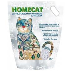 Впитывающий наполнитель Homecat силикагелевый Морозная свежесть, 7.6 л