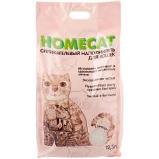 Впитывающий наполнитель Homecat силикагелевый Стандарт, 12.5 л