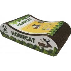 Когтеточка для кошек HomeCat Мятная волна, малая, 41 х 24 х 10 см