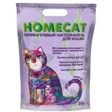Наполнитель для кошачьего туалета Homecat Лаванда силикагелевый с ароматом лаванды, 30 л (12 кг)