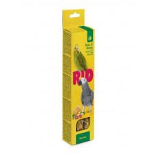 RIO 180 г палочки для крупных попугаев с медом и орехами 1х10