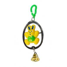 Игрушка Данко для попугаев на зеркале с колокольчиком