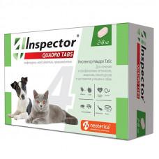 ЭКОПРОМ INSPECTOR QUADRO Таблетки от внешн.и внутр.паразит.д/кошек и собак от 2 до 8кг 4таб/уп