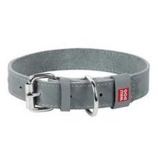 WAU DOG Classic кожа металлическая пряжка 35 мм 46-60 см серый
