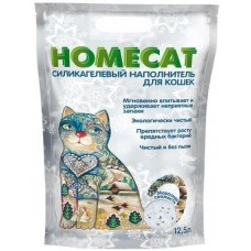 HOMECAT МОРОЗНАЯ СВЕЖЕСТЬ наполнитель силикагелевый для кошачьих туалетов, 12,5л