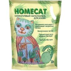 Наполнитель для кошачьих туалетов Homecat Алоэ Вера, силикагелевый, с ароматом Алоэ Вера, 3,8 л
