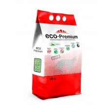 Комкующийся наполнитель ECO-Premium, древесный, с запахом зеленого чая, темно-зеленый, 7,6 кг, 20 л