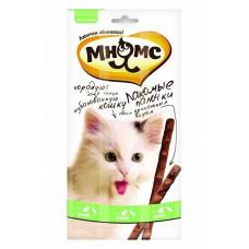 Лакомство для кошек Мнямс Лакомые палочки Утка, кролик, 5 г х 3 уп.