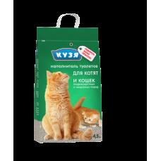 Наполнитель КУЗЯ для котят и короткошёрстных пород 4.5л