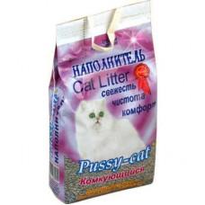 Наполнитель Pussy-cat «Комкующийся», фиолетовый пакет, 10 л
