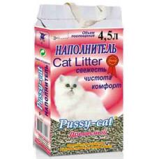 Наполнитель для кошачьего туалета Pussy-Cat, древесный, 10 л
