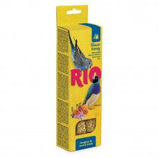 Лакомство для волнистых попугайчиков и экзотов Рио, с медом, 80 г