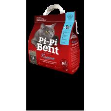 Комкующийся наполнитель для кошачьего туалета Pi-Pi Bent Классик, из природного бентонита, 5 кг